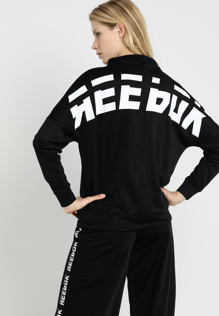 Reebok - GRAPHIC FUNNEL - Sweatshirt - black