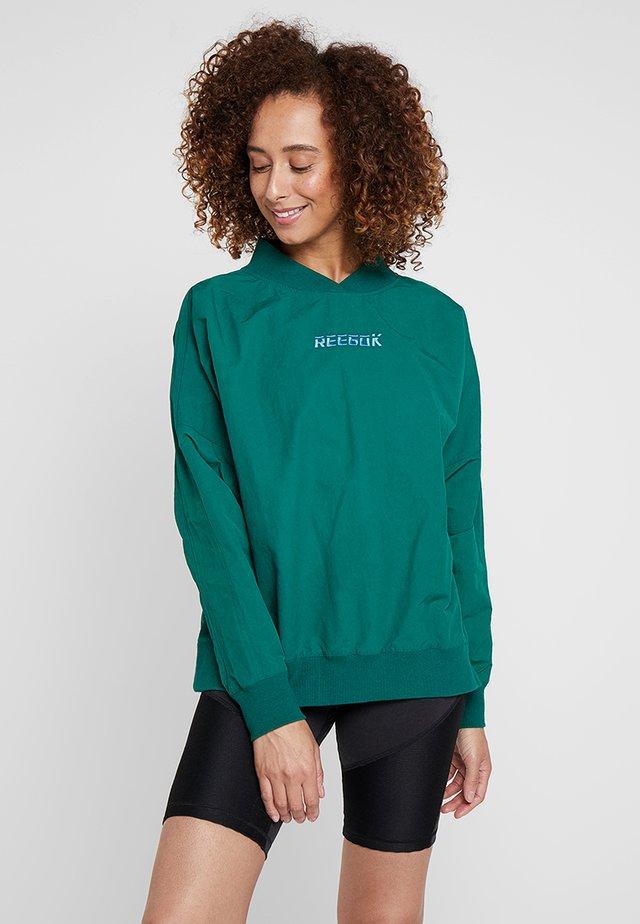 Top sdlouhým rukávem - green