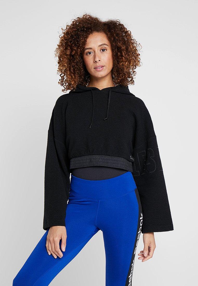 Reebok - LIGHTWEIGHT HOODIE - Jersey con capucha - black