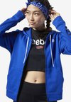 TRAINING ESSENTIALS FULL ZIP SWEATSHIRT - Hoodie met rits - blue