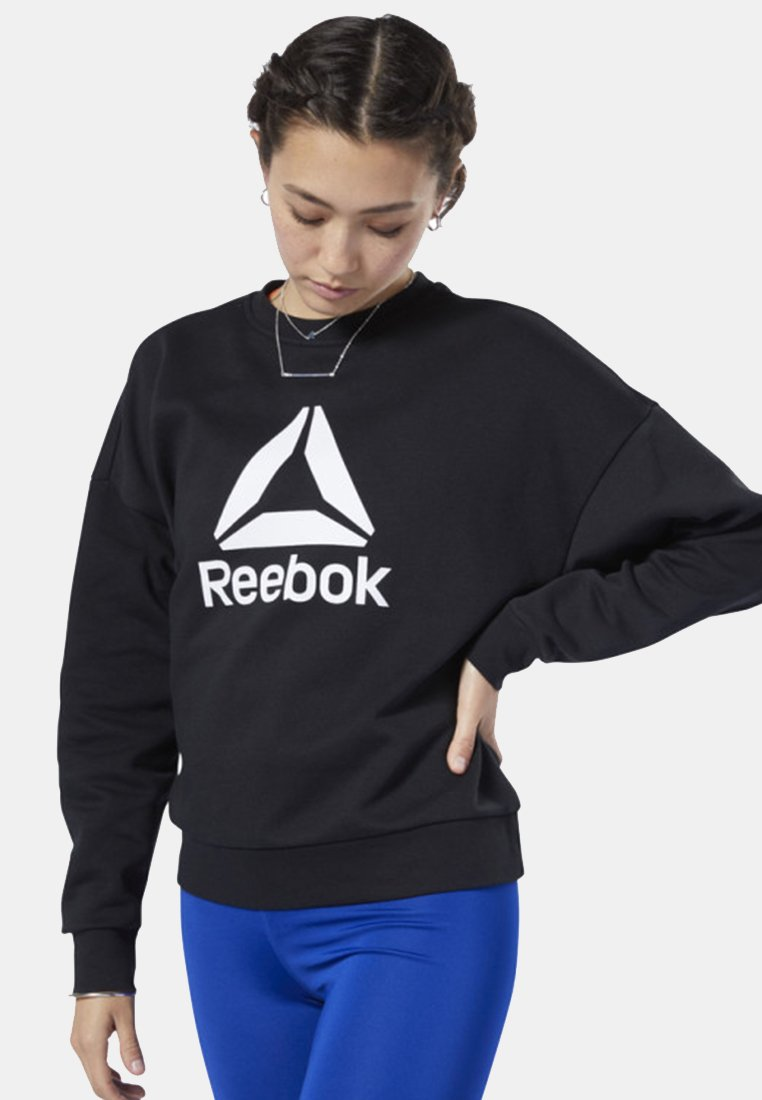 Reebok - WORKOUT READY BIG LOGO COVER-UP - Felpa - black
