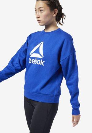 WORKOUT READY BIG LOGO COVER-UP - Sweatshirt - blue