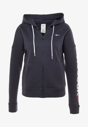 LINEAR LOGO FULLZIP - Zip-up hoodie - navy