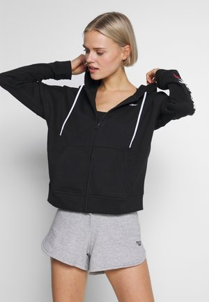 LINEAR LOGO FULLZIP - veste en sweat zippée - black