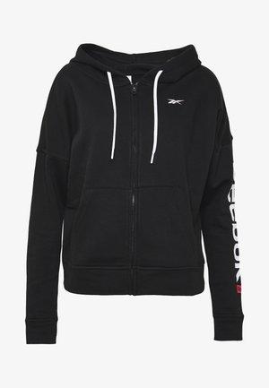 LINEAR LOGO FULLZIP - Zip-up hoodie - black
