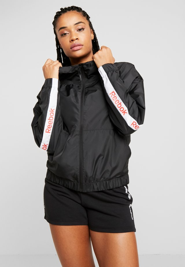 LINEAR LOGO JACKET - Training jacket - black