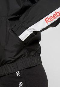 Reebok - LINEAR LOGO JACKET - Sportovní bunda - black - 5