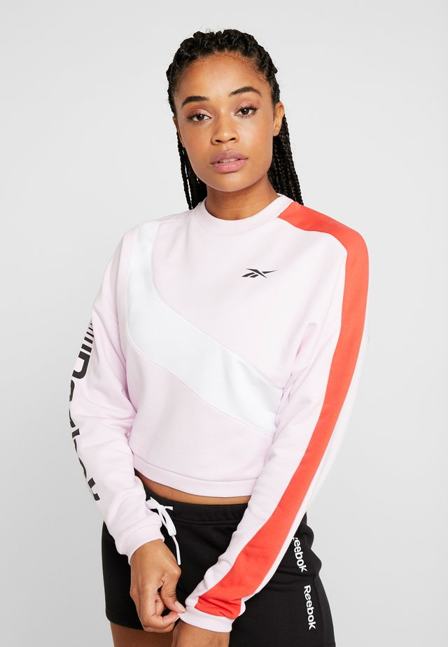 WOR COLORBLOCKED CREW - Sweatshirt - pink
