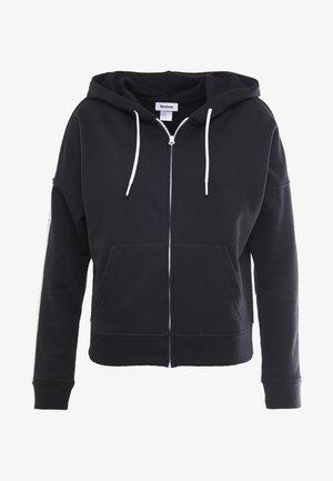 LINEAR LOGO FULLZIP - Bluza rozpinana - black