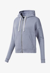 Reebok - TRAINING ESSENTIALS SWEATSHIRT - Hettejakke - blue - 0