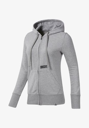 REEBOK REPEAT HOODIE - veste en sweat zippée - grey