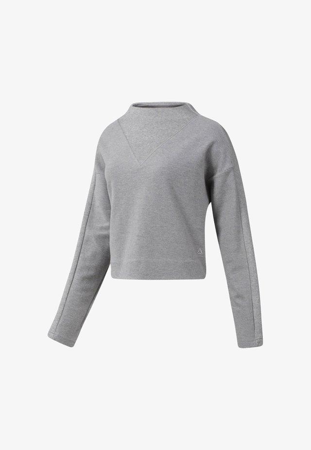 TE TWILL COWL NECK - Mikina - medium grey heather