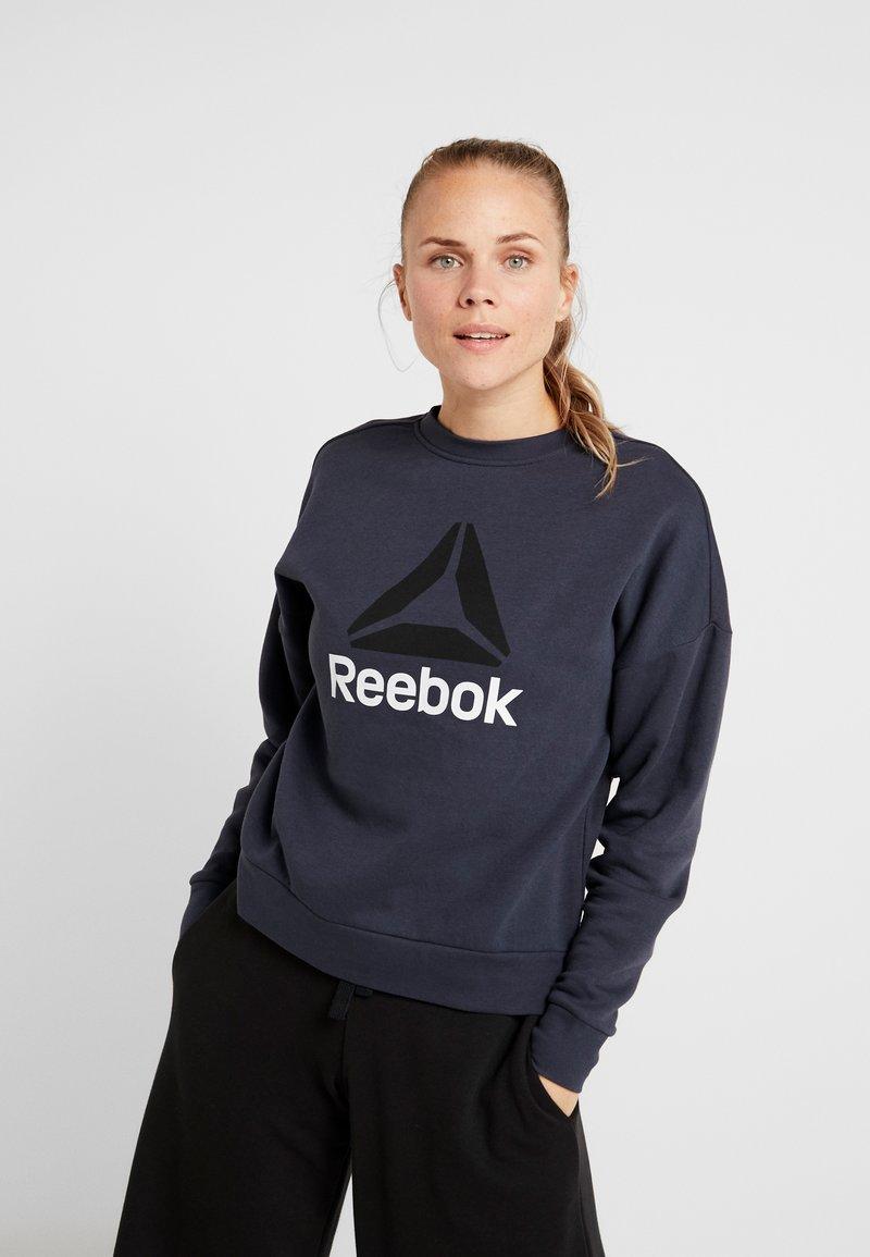 Reebok - WOR BIG LOGO COVERUP - Sweatshirts - heritage navy