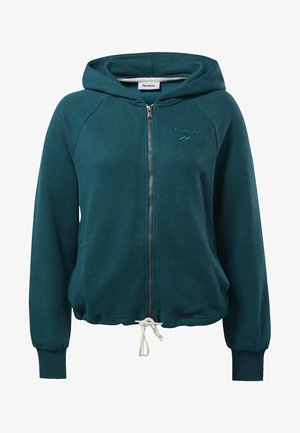 TRAINING ESSENTIALS LOGO HOODIE - Collegetakki - heritage teal