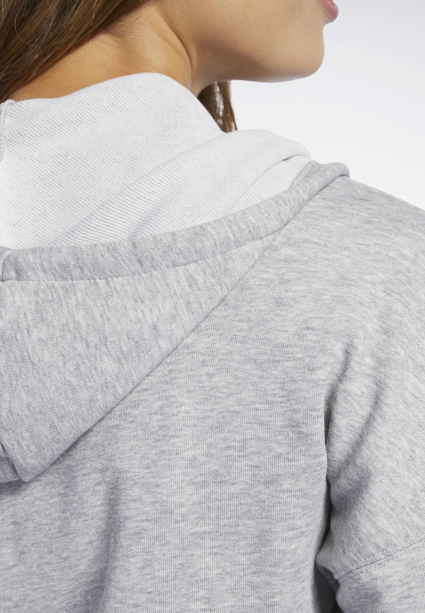 Reebok TRAINING ESSENTIALS FULL-ZIP HOODIE - Bluza rozpinana - grey
