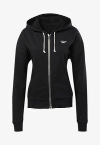 Reebok - TRAINING ESSENTIALS FULL-ZIP HOODIE - Zip-up hoodie - black - 5