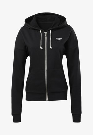 TRAINING ESSENTIALS FULL-ZIP HOODIE - Hettejakke - black