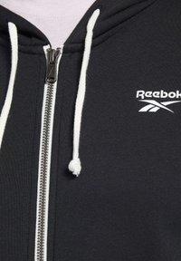 Reebok - TRAINING ESSENTIALS FULL-ZIP HOODIE - Zip-up hoodie - black - 3