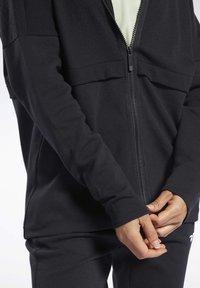 Reebok - QUIK COTTON HOODIE - veste en sweat zippée - black - 5