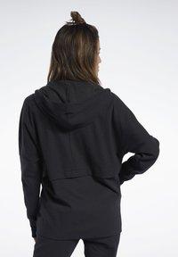 Reebok - QUIK COTTON HOODIE - veste en sweat zippée - black - 2