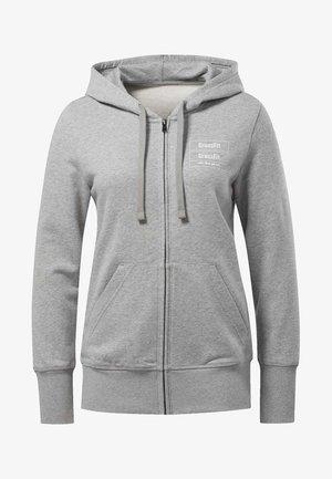REEBOK  FULL-ZIP HOODIE - Zip-up hoodie - grey