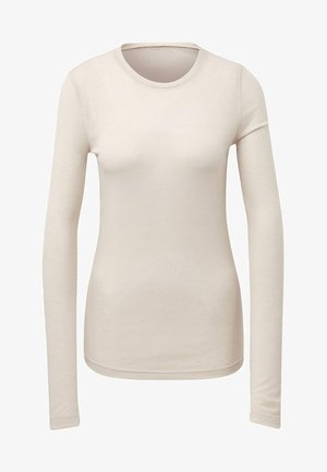 STUDIO RIBBED LONG SLEEVE TEE - Langærmede T-shirts - beige