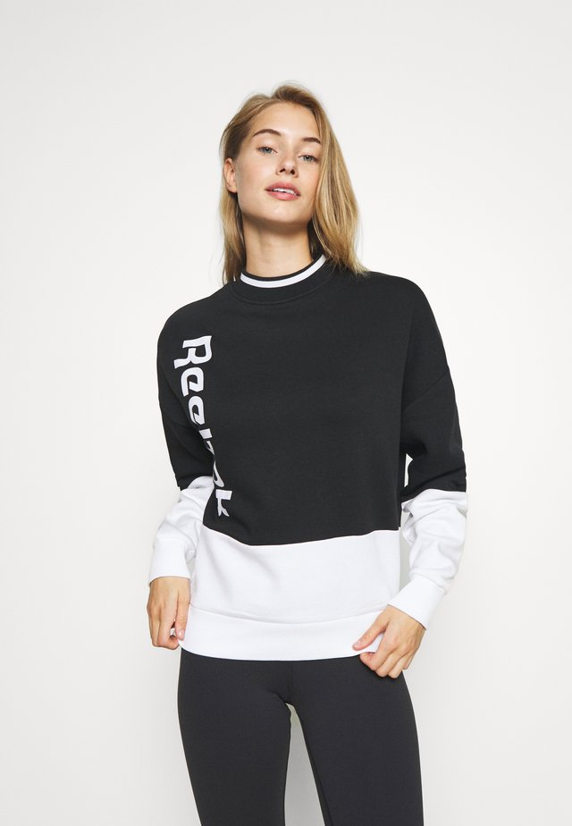 LINEAR LOGO CREW - Sweatshirt - black