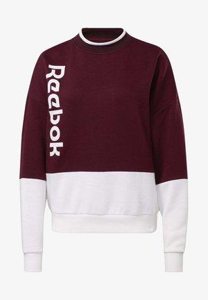 TRAINING ESSENTIALS LOGO CREW SWEATSHIRT - Sweatshirt - burgundy