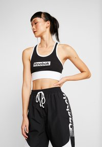 Reebok - LINEAR LOGO BRALETTE - Sports bra - black - 0