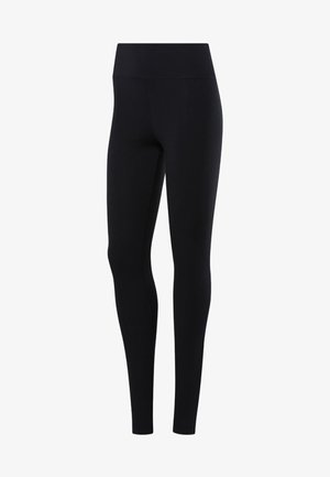 TRAINING ESSENTIALS LINEAR LOGO TIGHTS - Leggings - black