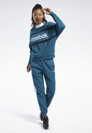 TRAINING ESSENTIALS LINEAR LOGO TRACK SUIT - Tracksuit - heritage teal