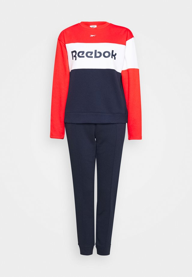 LINEAR LOGO CREW - Tracksuit - red