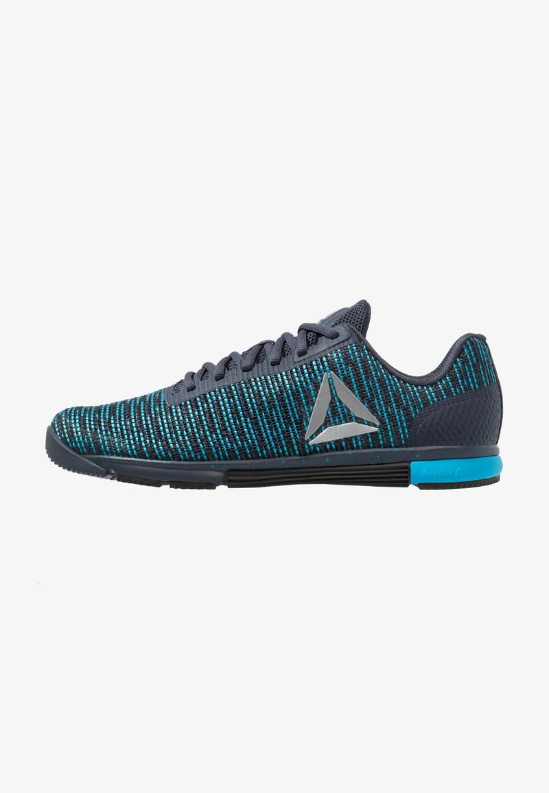 Reebok - SPEED TR FLEXWEAVE LOW PROFILE SHOES - Sports shoes - heritage navy/bright cyan/black