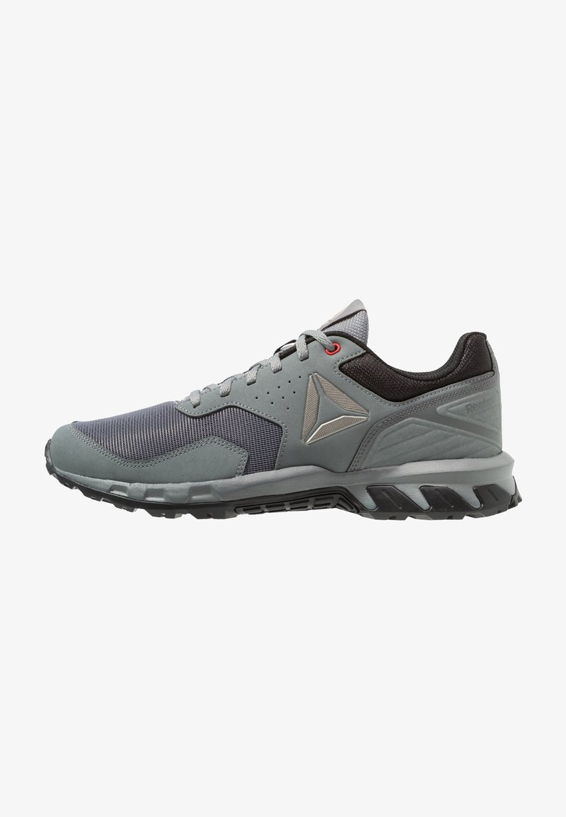 Reebok - RIDGERIDER TRAIL 4.0 - Løpesko for mark - grey/black/alloy/pewter/red
