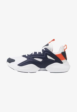 SOLE FURY ADAPT - Neutral running shoes - white/navy/orange