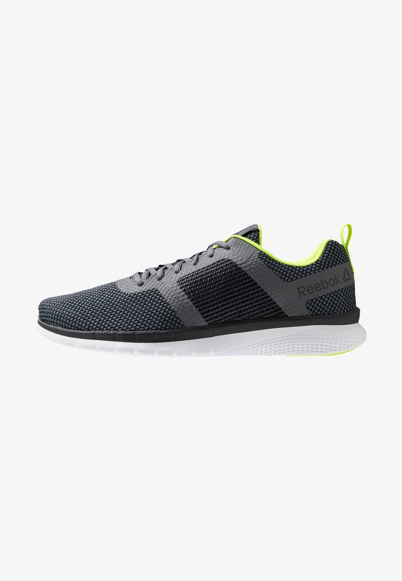 Reebok - PRIME RUNNER - Neutral running shoes - cold grey/neon lime/white