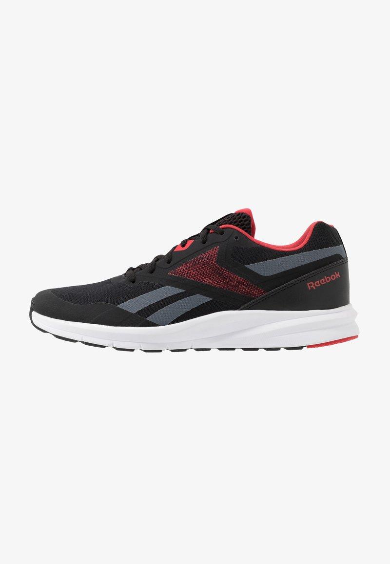 Reebok - RUNNER 4.0 - Neutrální běžecké boty - black/true grey/exclusiv red