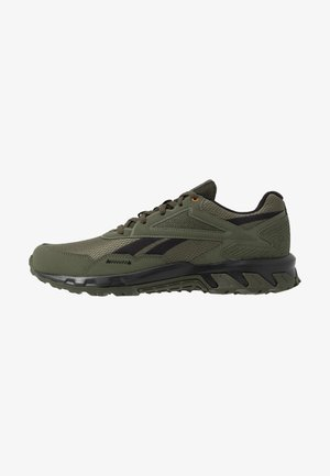 RIDGERIDER 5.0 - Trail running shoes - poplar green/black/high vis orange
