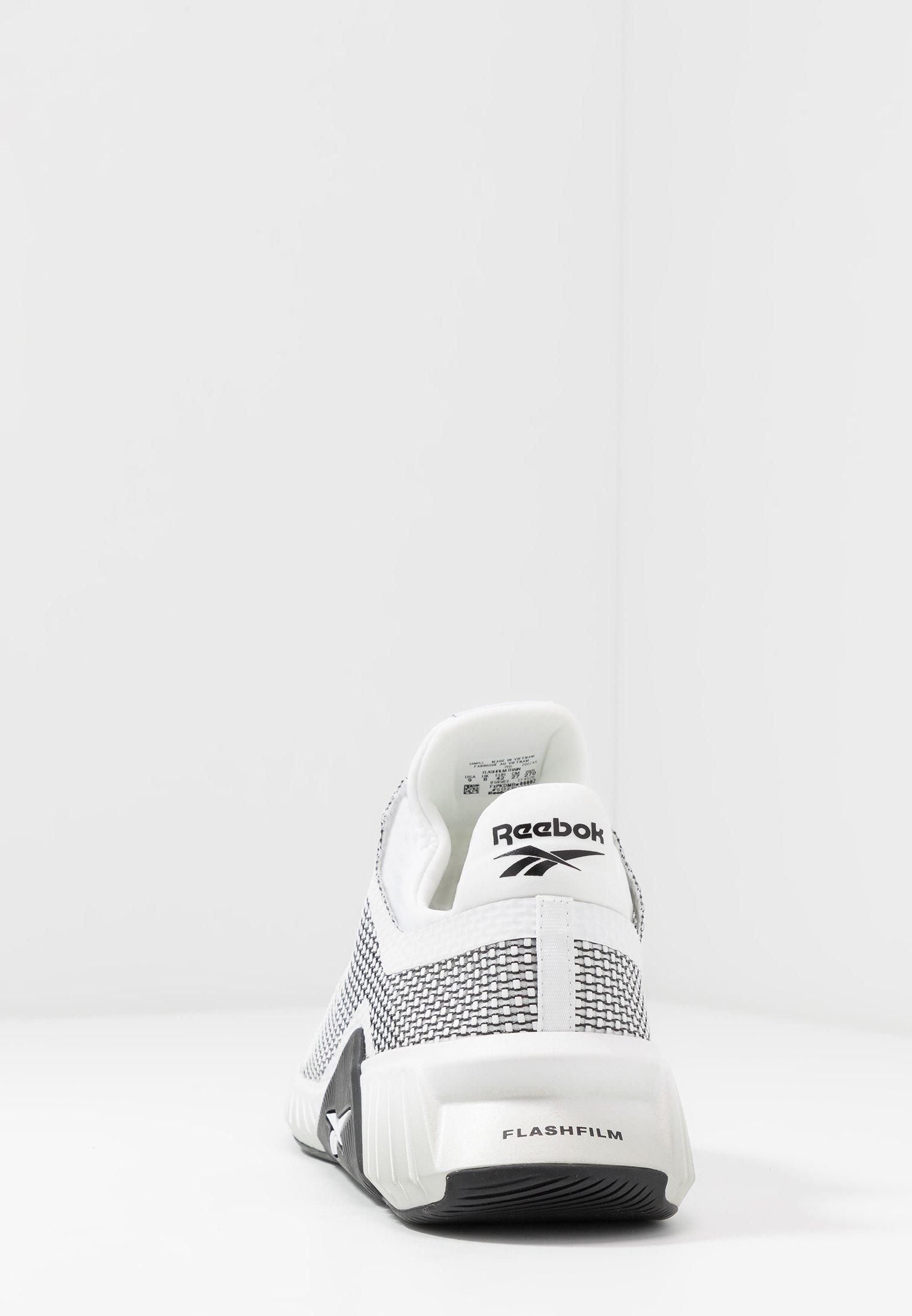 Reebok Flashfilm Train - Chaussures D'entraînement Et De Fitness White/black/silver Metallic 8yJy39d