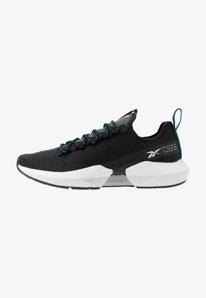 SOLE FURY - Chaussures de running neutres - black/sea teal/legend active red