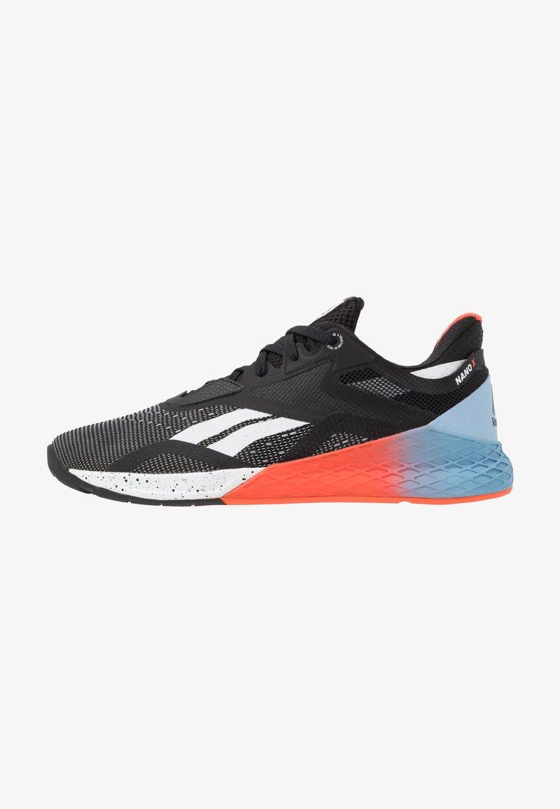 Reebok - NANO X - Sportschoenen - black/white/vivid orange