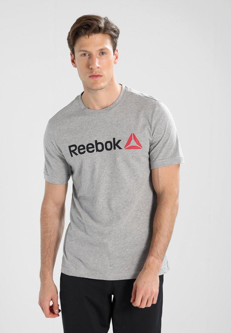 Reebok - TRAINING ESSENTIALS LINEAR LOGO - Sports shirt - medium grey heather