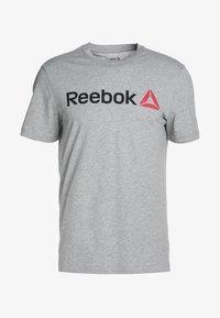 Reebok - TRAINING ESSENTIALS LINEAR LOGO - Sports shirt - medium grey heather - 4