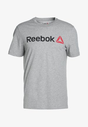 TRAINING ESSENTIALS LINEAR LOGO - Camiseta de deporte - medium grey heather