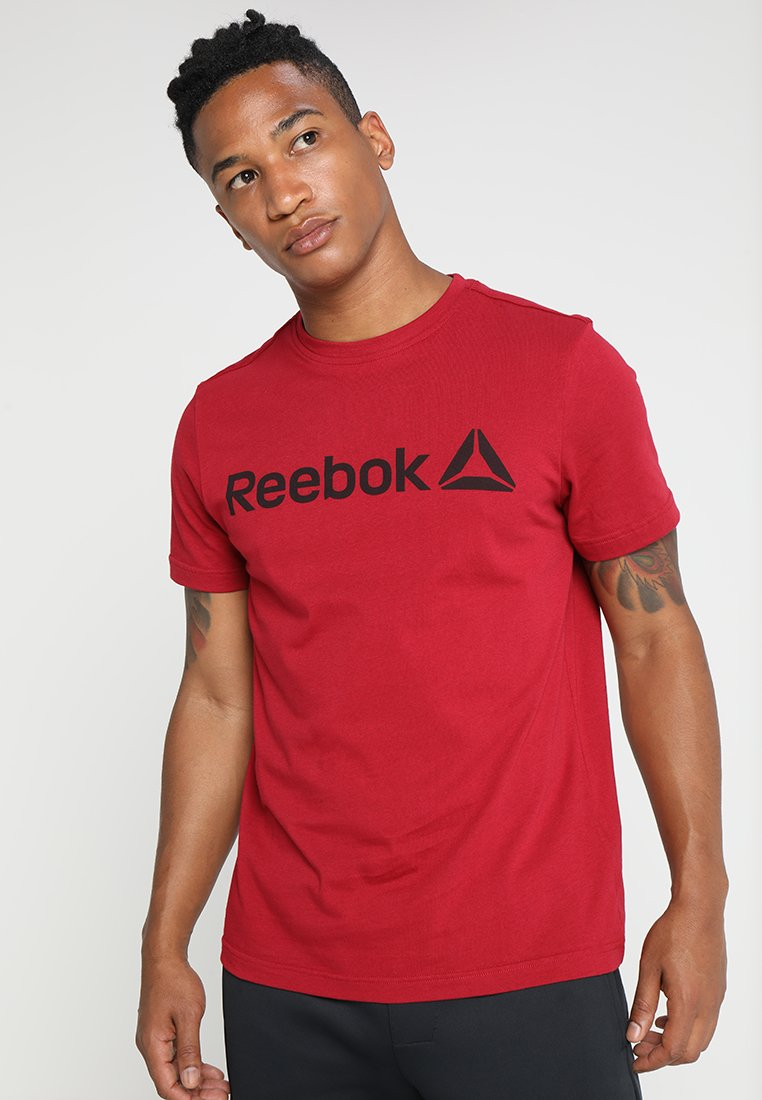 Reebok - TRAINING ESSENTIALS LINEAR LOGO - Sportshirt - red