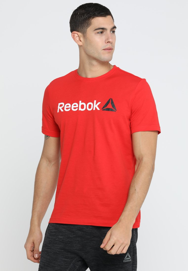 Reebok - LINEAR READ - T-shirt con stampa - motor red