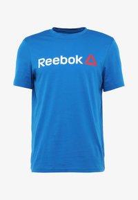 Reebok - TRAINING ESSENTIALS LINEAR LOGO - Sports shirt - blue - 3