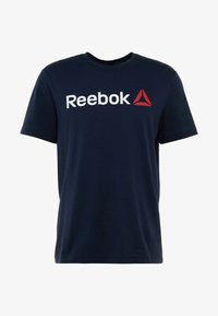 Reebok - TRAINING ESSENTIALS LINEAR LOGO - T-shirt sportiva - blue - 3