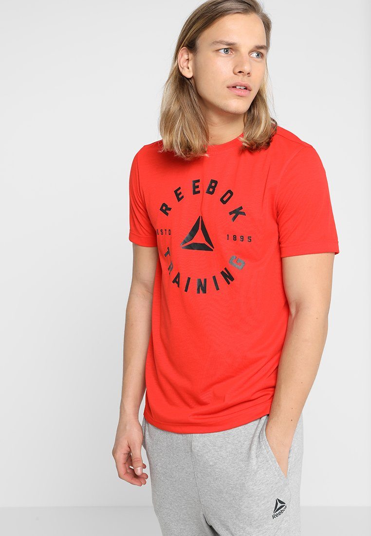 Reebok - TRAINING SPEEDWICK TEE - T-shirts print - canton red