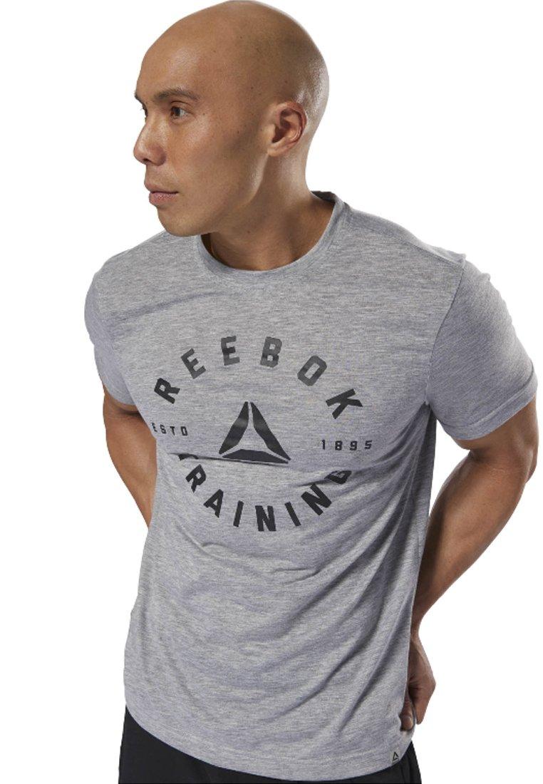 Reebok - GS TRAINING SPEEDWICK - Print T-shirt - grey